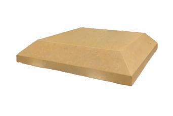 15 inch chamfered flat pier caps sandstone