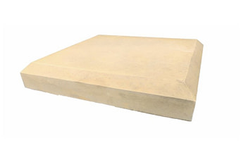21 inch chamfered pier caps sandstone