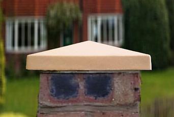 10 inch Standard Pier Caps Sandstone
