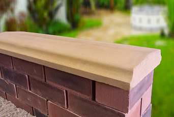 10.5 inch Twice Weathered Bevelled Coping Stones