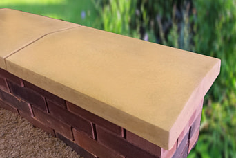 15 inch Twice Weathered Apex Coping Sandstone