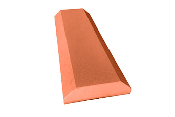 8 inch Chamfered Flat Copings Terracotta