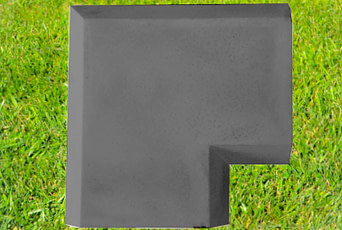Charcoal 11 inch Chamfered Coping Corner
