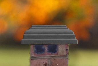 Charcoal 12 inch pillar caps
