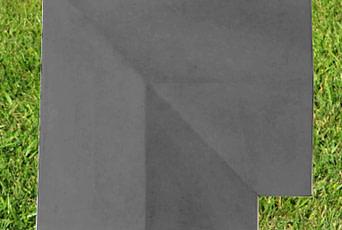 Charcoal 15 inch Twice Weathered Coping Stone Corner