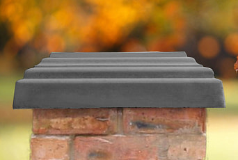 Charcoal 20 inch pillar caps