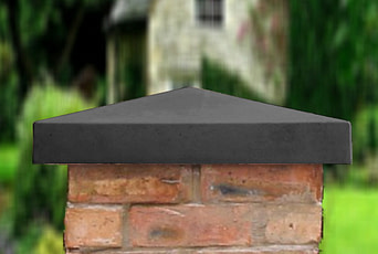 Charcoal 21 inch Traditional Pier Cap