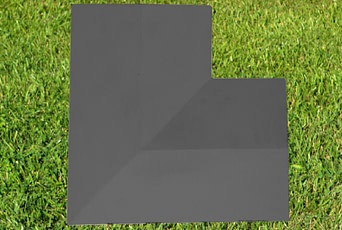 Charcoal 11 inch corner copings