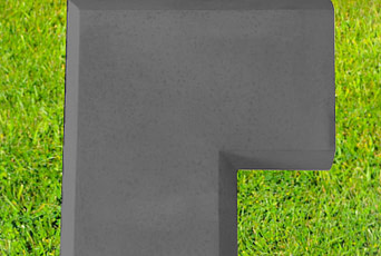 Charcoal 13 inch corner coping stone