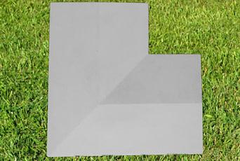 grey 11 inch corner copings