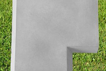Grey 15 inch corner coping stone