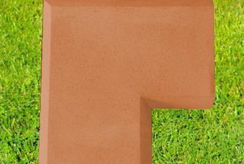 13 inch  Corner coping in Terracotta
