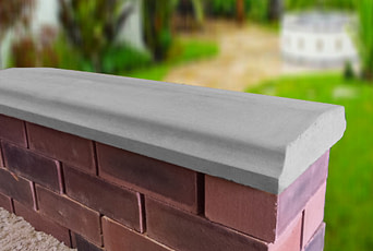 Grey 10.5 inch Twice Weathered Bevelled Coping