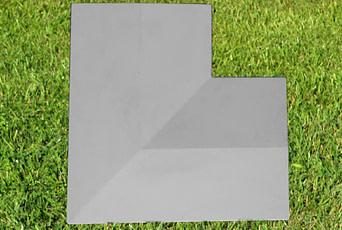 Grey 11 inch Twice Weathered Coping Stone Corner