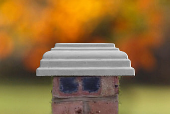Grey 12 inch pillar caps