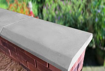 Grey 15 inch Chamfered Flat Coping