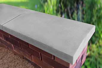 Grey 15 inch coping stones for walls
