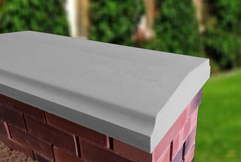Grey 15 inch Twice Weathered Bevelled Coping