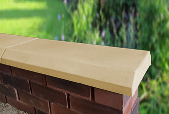 Sandstone 11 inch Chamfered Flat Coping