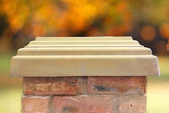 Sandstone 20 inch pillar caps
