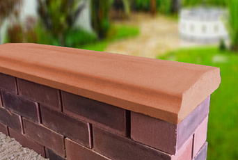 Terracotta -10.5 inch Twice Weathered Bevelled Coping