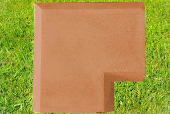 Terracotta 11 inch Chamfered Coping Corner