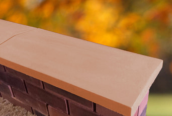 Terracotta 11 inch Twice Weathered Apex Coping Stone