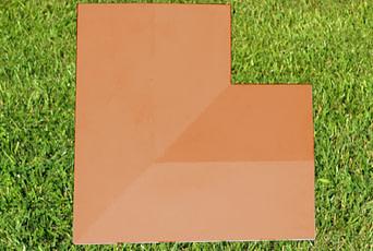 Terracotta 11 inch Twice Weathered Coping Stone Corner