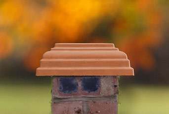 Terracotta 12 inch pillar caps
