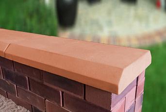 Terracotta 13 inch Chamfered Flat Coping