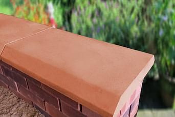 Terracotta 15 inch Chamfered Flat Coping