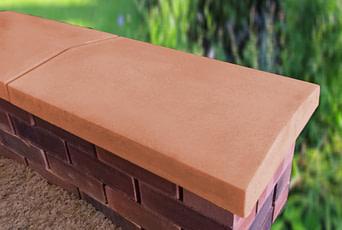 Terracotta 15 inch coping stones