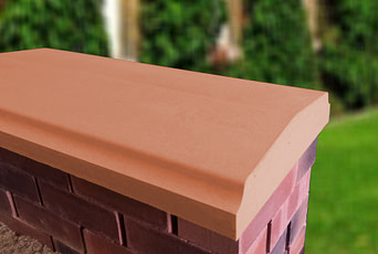 Terracotta 15 inch Twice Weathered Bevelled Coping