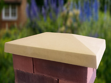 10 x 15 inch Traditional Pier Cap Sandstone