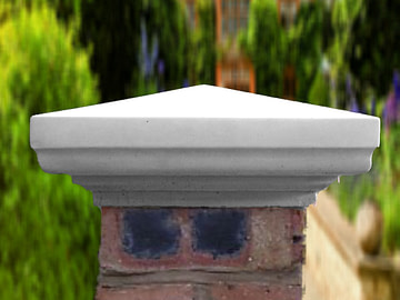 Grey 9 inch pillar caps