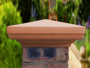 Terracotta 9 inch pillar caps