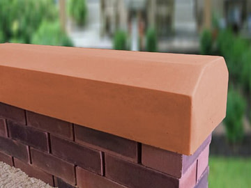 Terracotta 7 inch coping stones