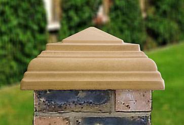 sandstone 15 inch stepped peak pier caps