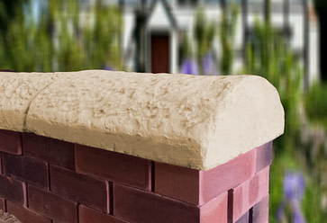 sandstone cottage wall coping stones
