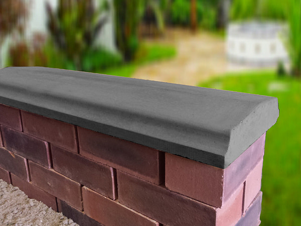 charcoal 10.5 inch twice weathered bevelled coping stones