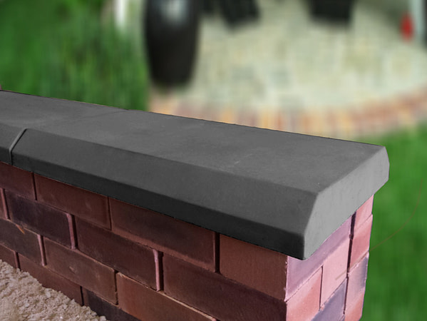 charcoal 13 inch chamfered coping stones