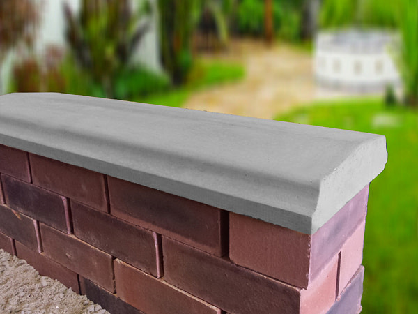 grey 10.5 inch twice weathered bevelled coping stones
