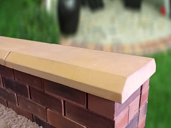sandstone chamfered coping stones from classical creations